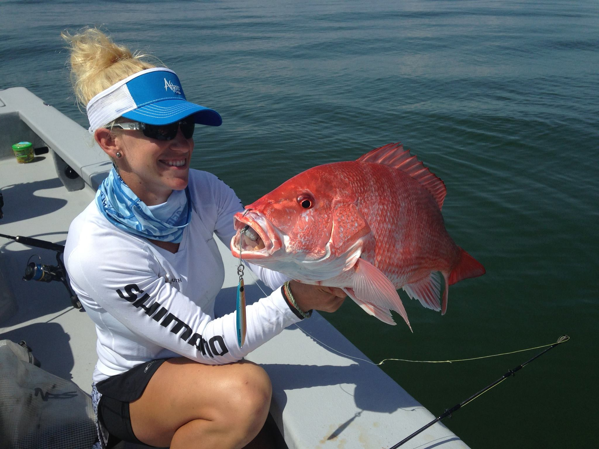 Female Angler with Red Snapper
