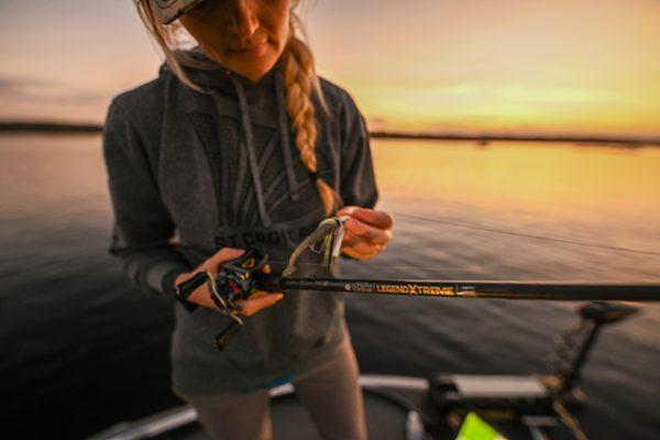 Woman Bass Fishing
