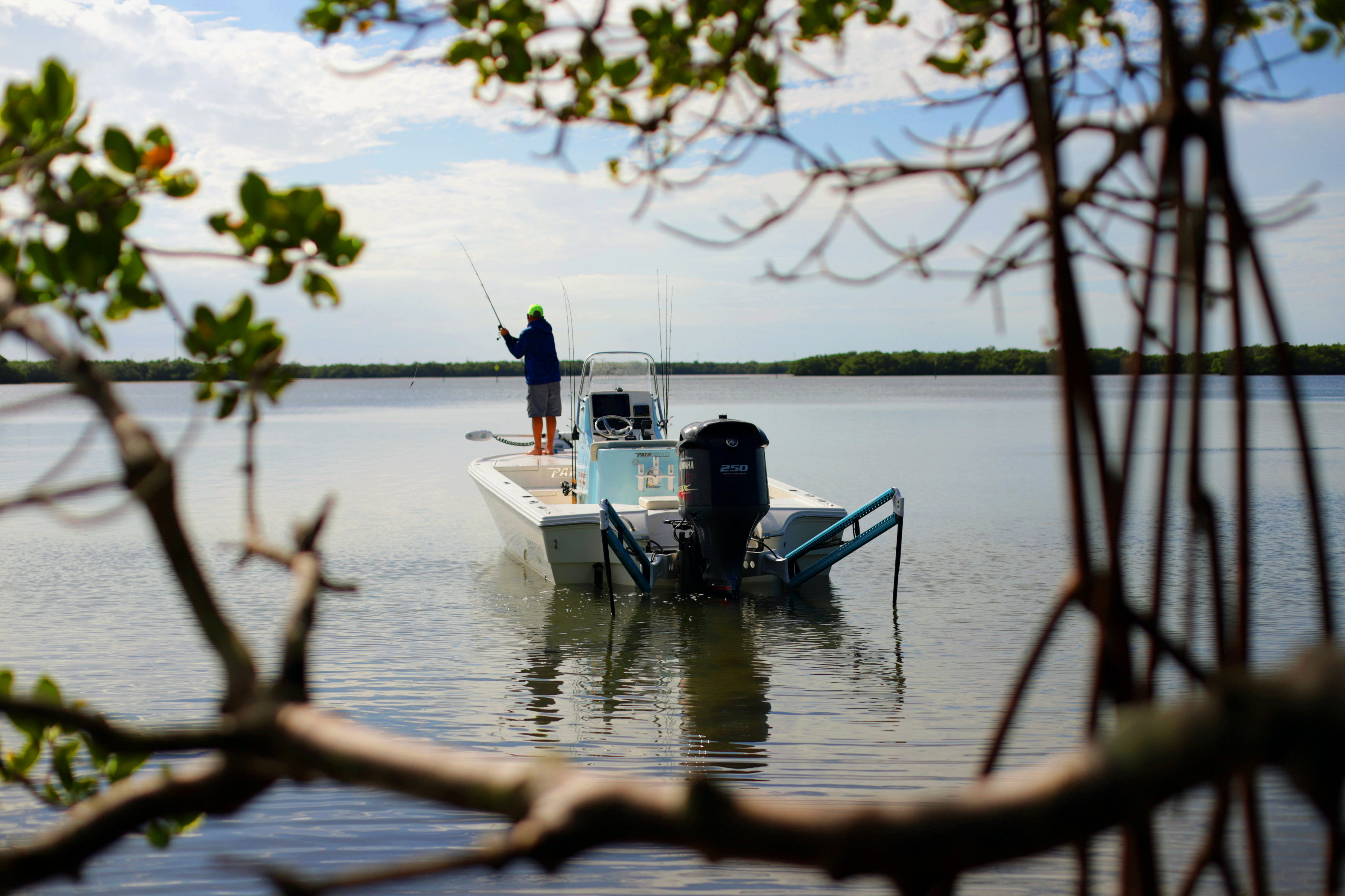 Power Pole Boat and Angler