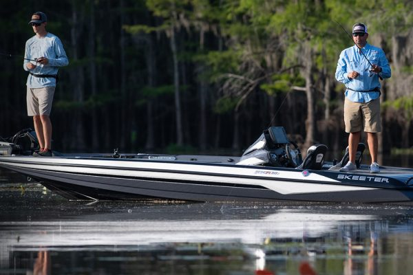 Anglers fishing on Skeeter Bass Boat