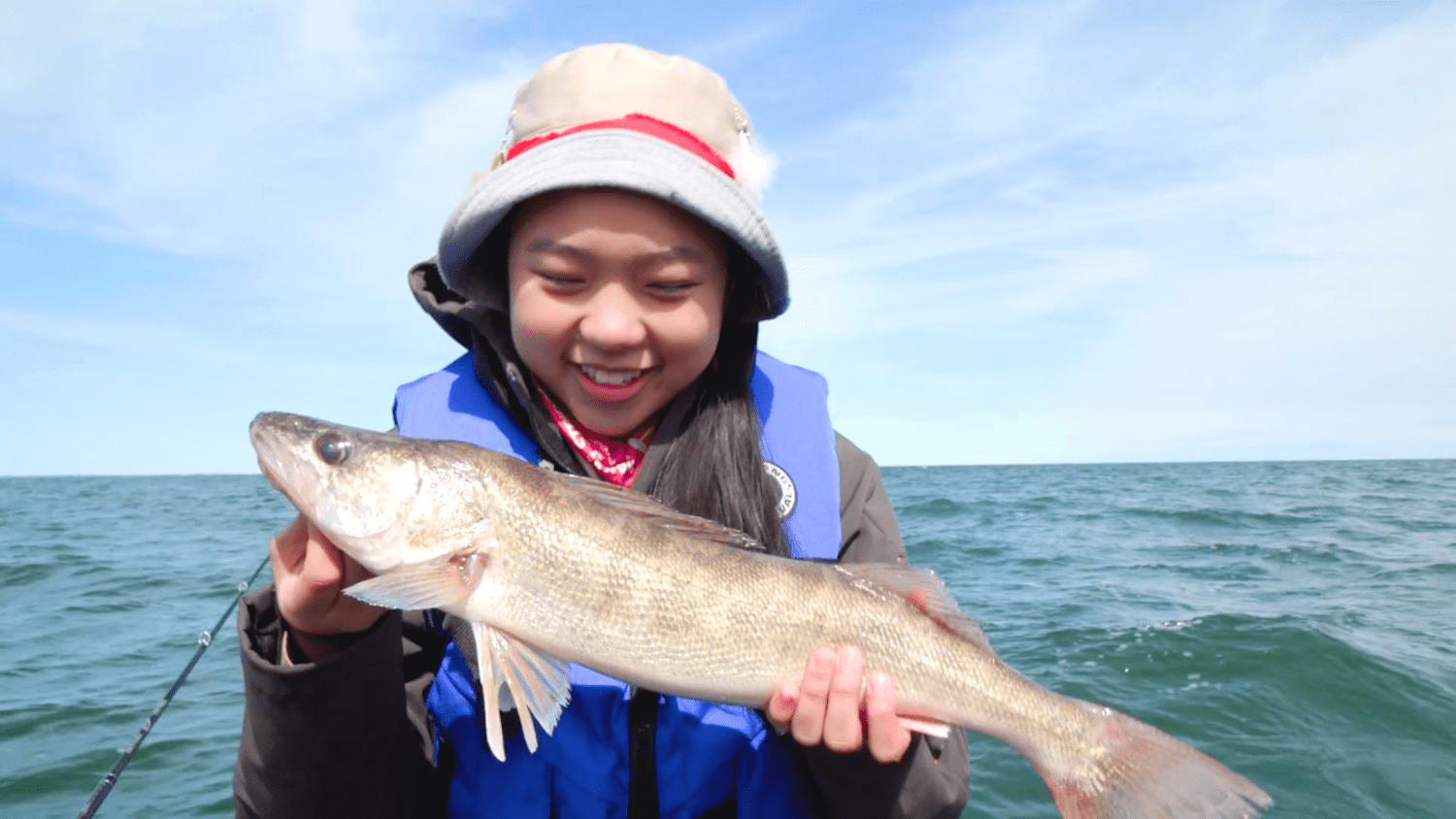 Girl with Walleye