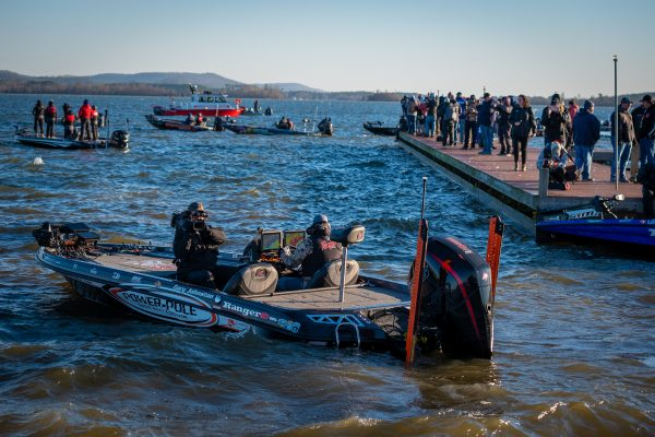 Takeoff at the 2020 Bassmaster Classic