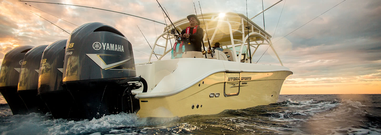 Angler using Yamaha Motors