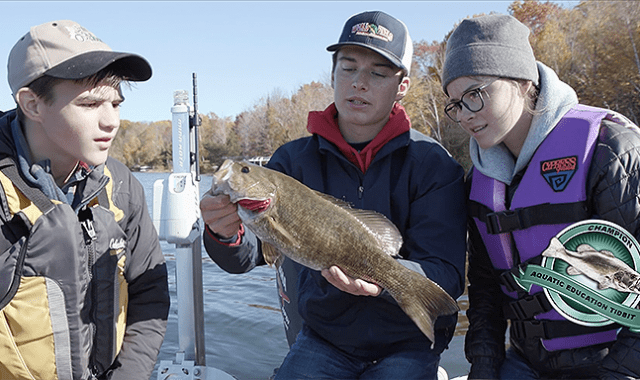 High School Anglers with Smallmouth