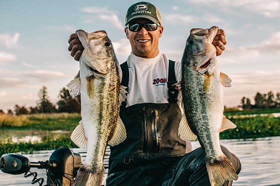 Angler Patrick Walters with Largemouth Bass