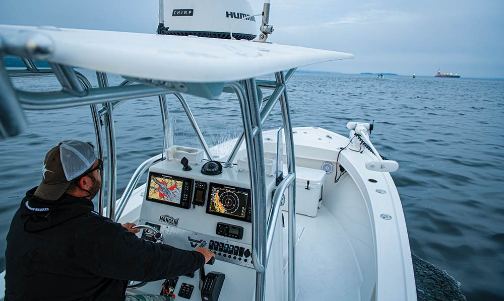 Captain Navigates with Humminbird