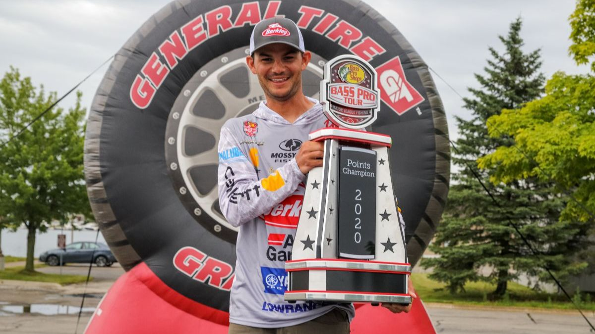 Pro Angler Jordan Lee Holding Trophy