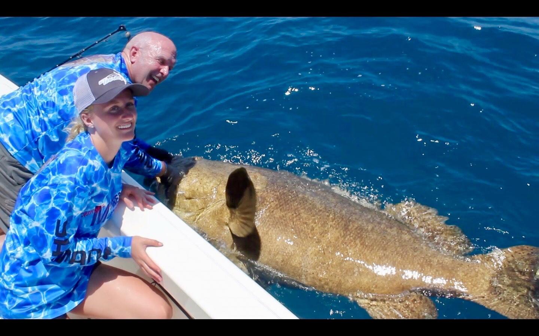 Goliath Grouper Boatside