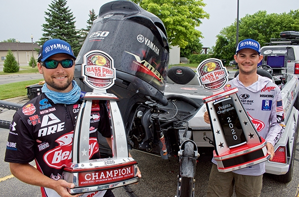 Pro Anglers with Trophies