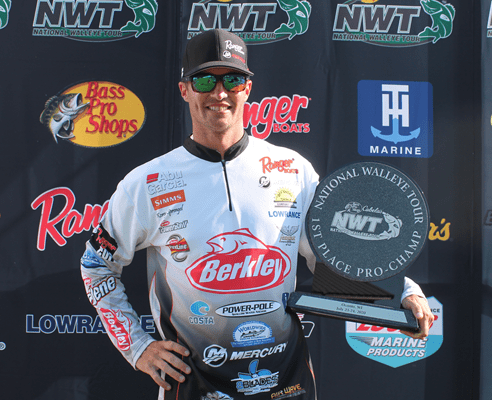 Korey Sprengel Pro Angler with Trophy