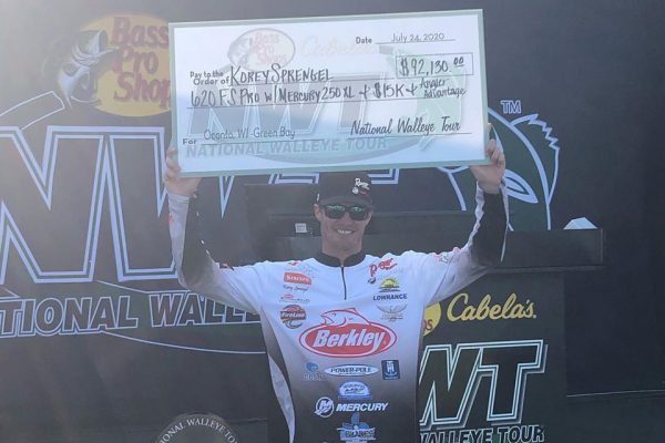 Angler Korey Sprengel Holds Big Check