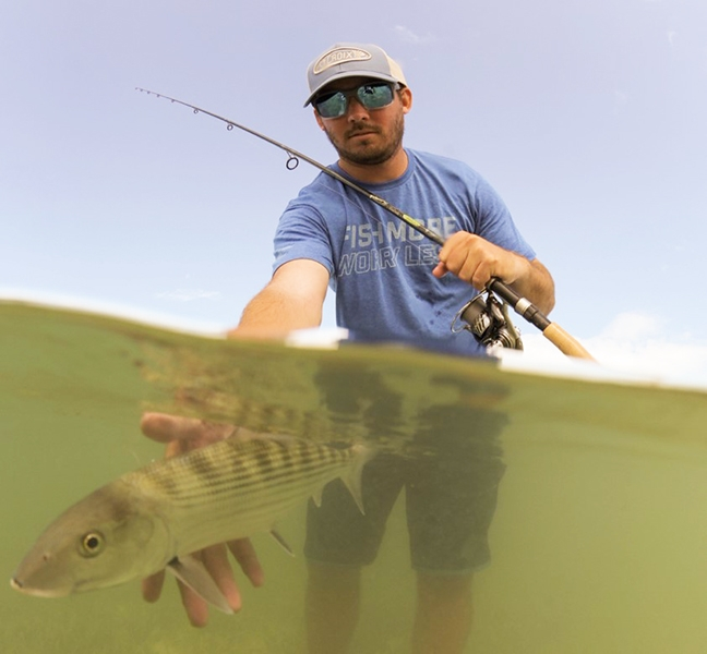 Angler Releasing Bonefish
