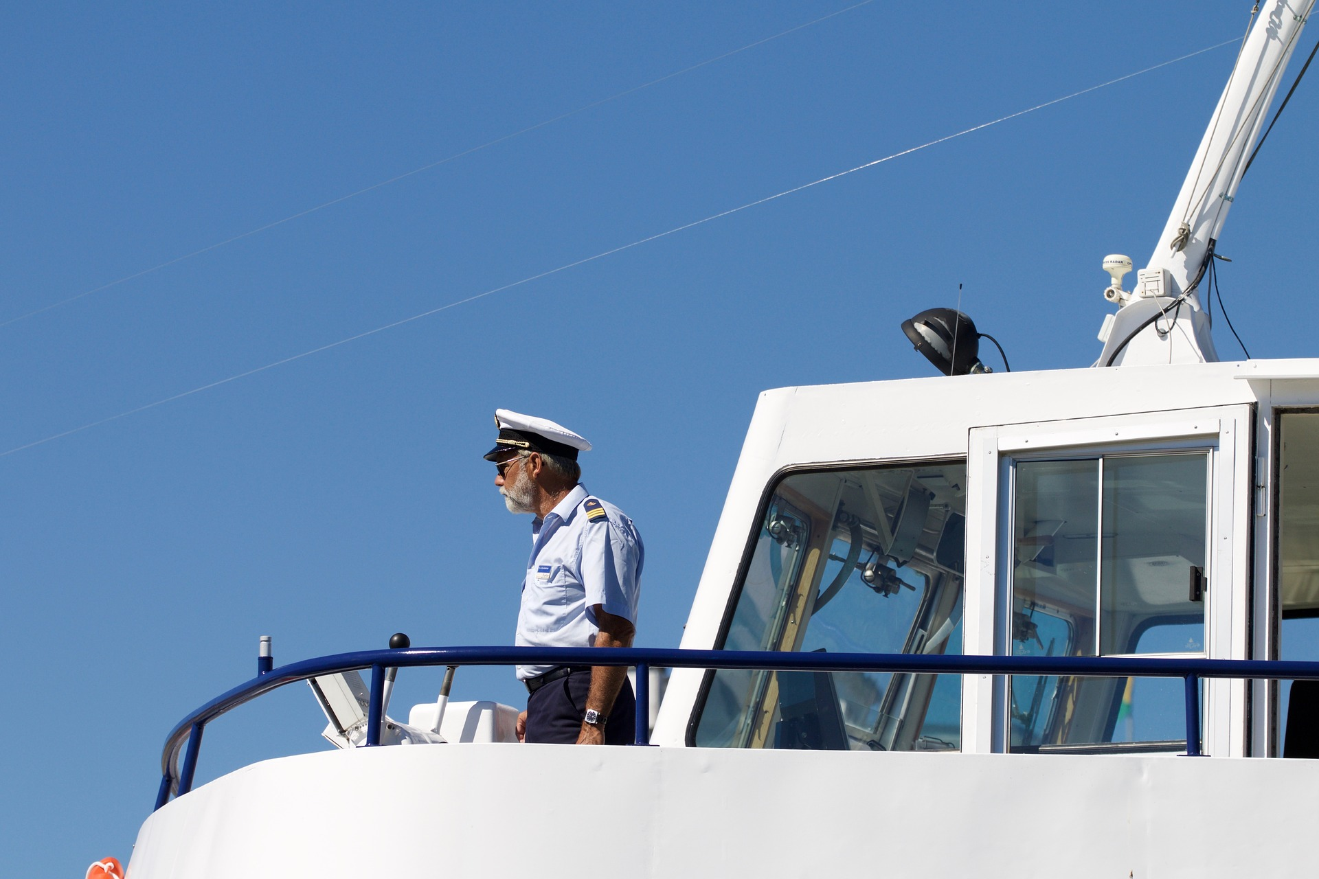 Captain Observing Water