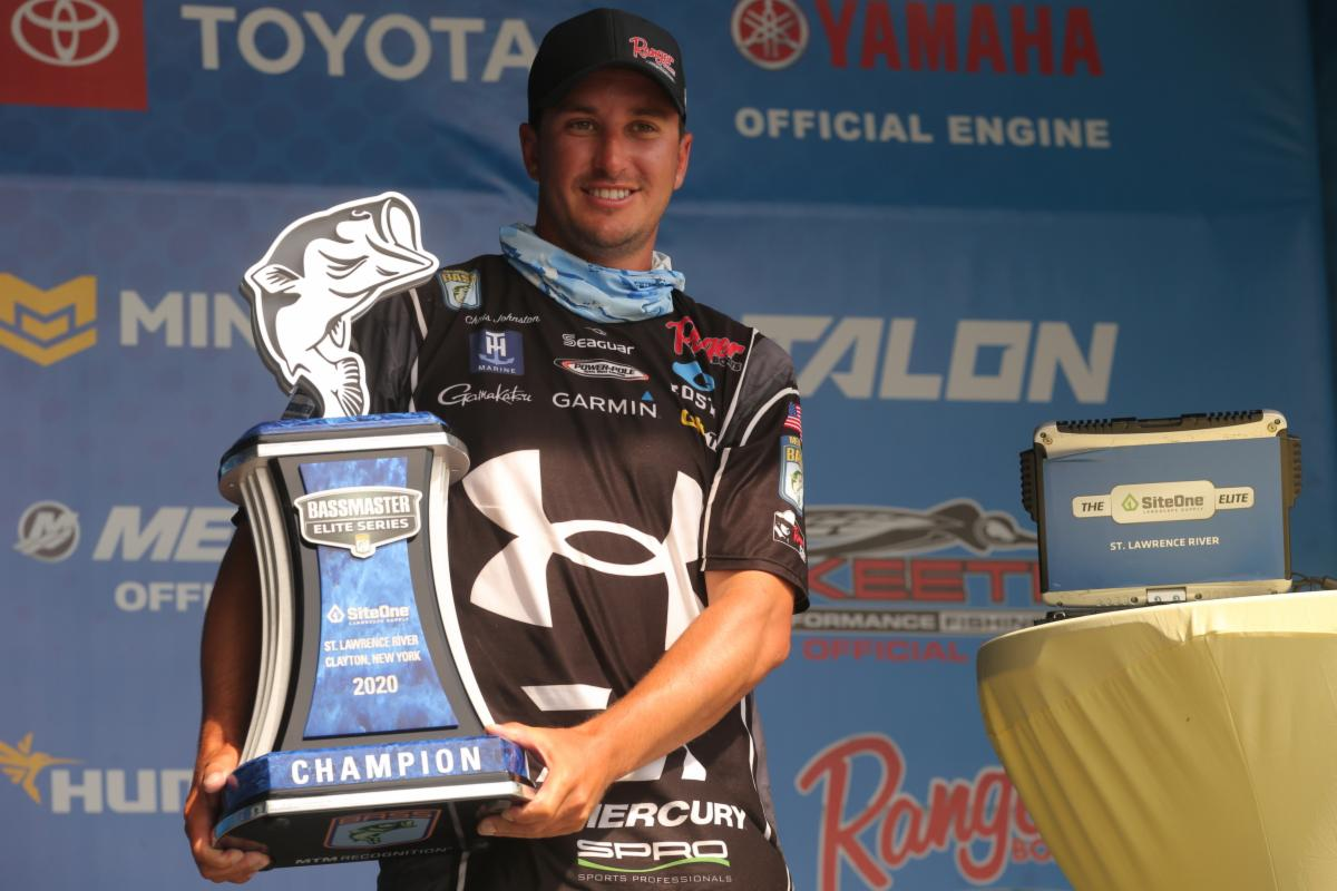 Bass Angler Holds Trophy