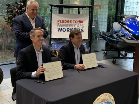 Yamaha Pledge Signing