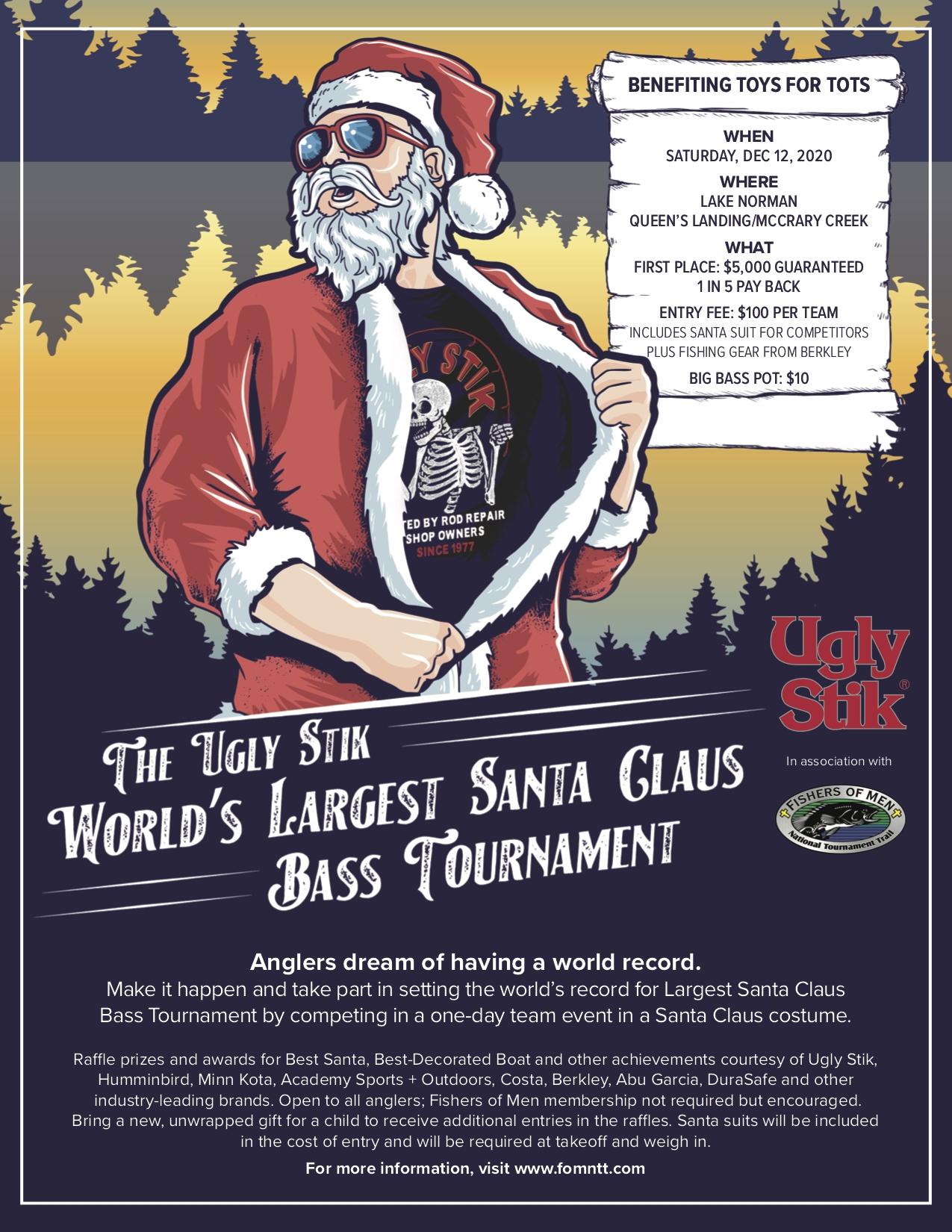 Santa Claus Bass Fishing Flyer Full