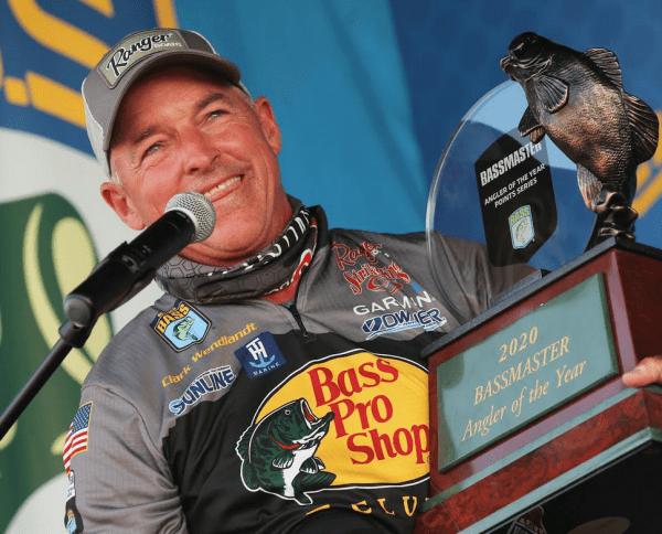 Pro Angler Clark Wendlandt Holds Trophy