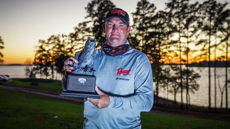 Chris Macy with Trophy