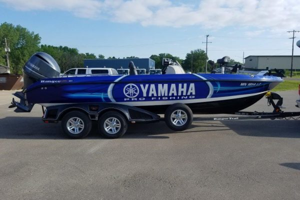 National Fleet Graphics Wrapped Boat