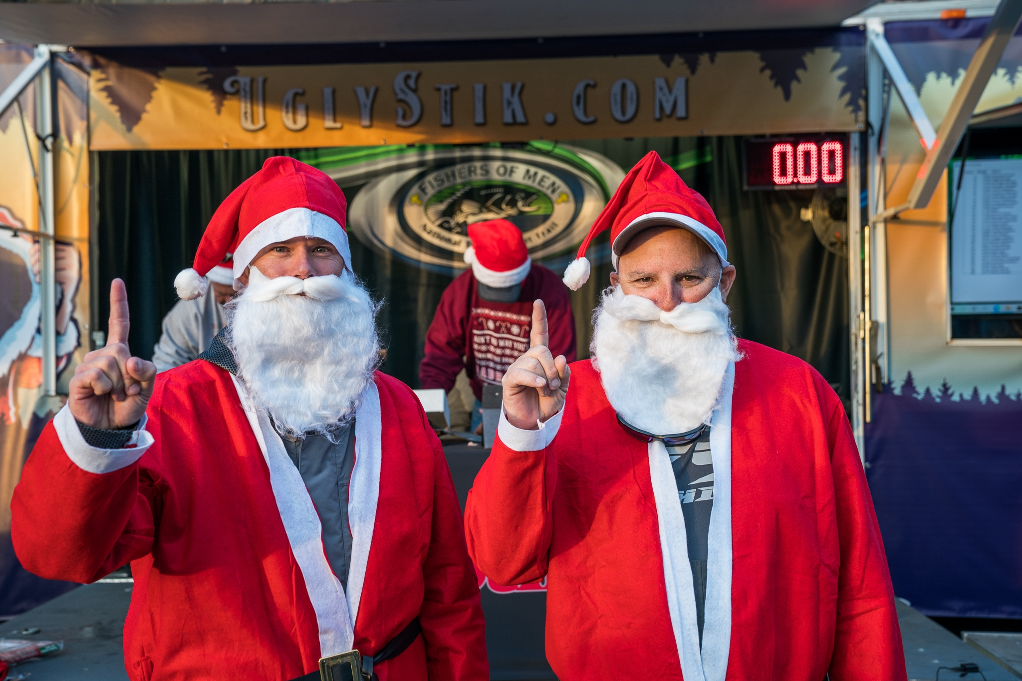 Anglers in Santa Suits