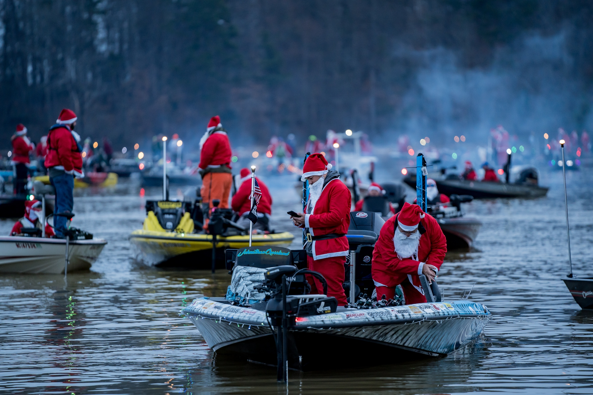 Anglers Compete in Santa Tournament