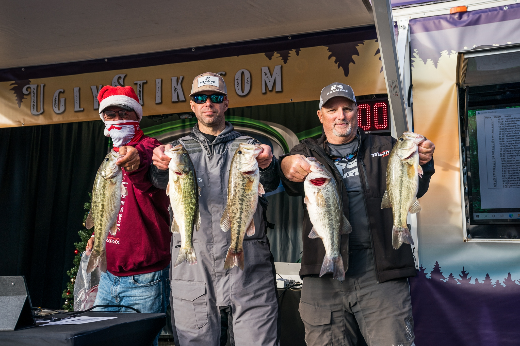 Anglers with Bass Win Santa Tournament