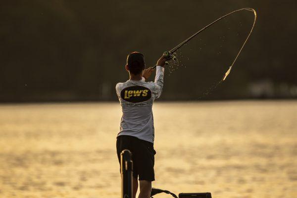 Angler Jordan Lee Casts Fishing Lure