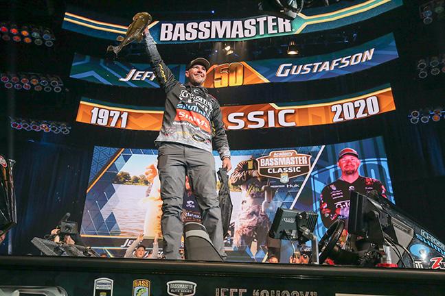 Bass Angler on Stage