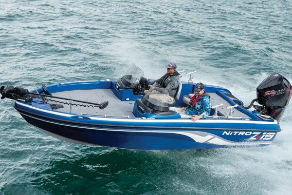 Anglers Driving Nitro Boat