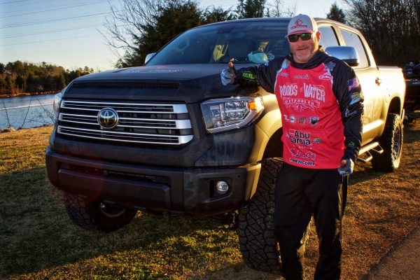 Pro Angler Hank Cherry Stands By Toyota Truck