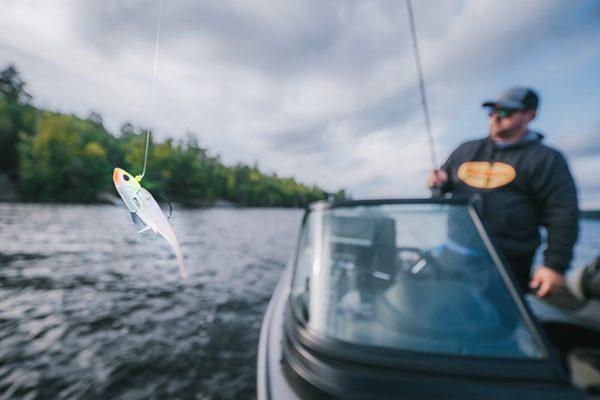 Angler cast fishing lure