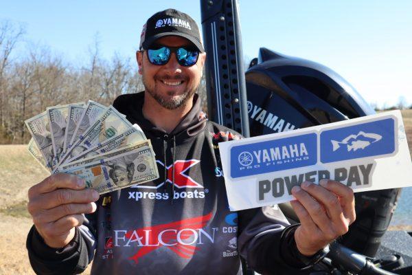 Jason Christie with Power Pay Winnings