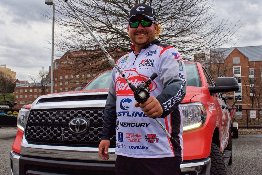 Angler John Cox with his Toyota