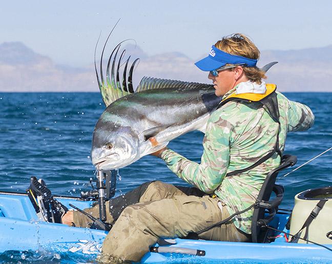Angler Lands Saltwater Fish in Kayak