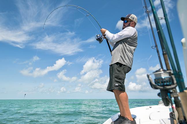 Angler Battling Saltwater Fish
