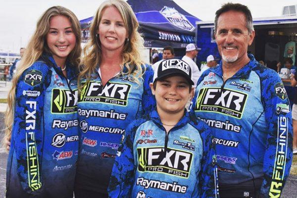Angler Rob Lupola and Family