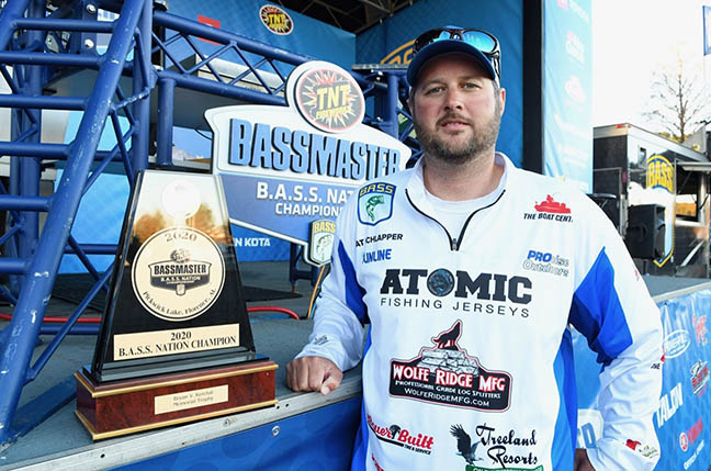 Bass Angler with Trophy