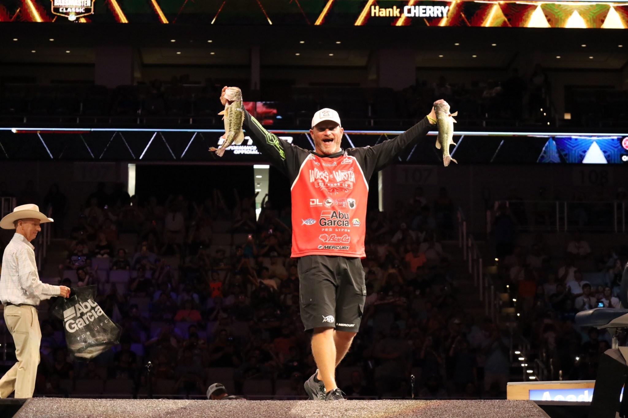 Angler Hank Cherry Holds Bass