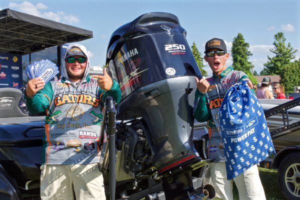 College Anglers with Boat Motor