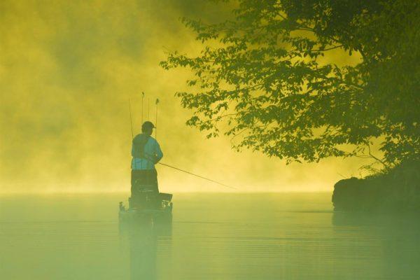 Angler in Kayak