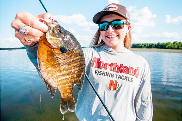 Woman Angler with Bluegill